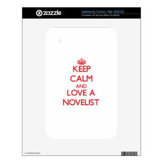 Keep Calm and Love a Novelist Samsung Galaxy Tab Skin