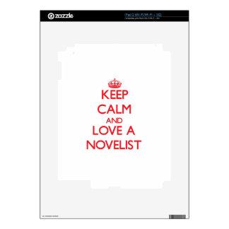 Keep Calm and Love a Novelist iPad 2 Skins