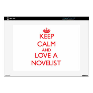 "Keep Calm and Love a Novelist 15"" Laptop Decal"
