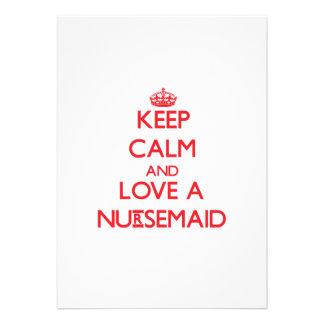 Keep Calm and Love a Nursemaid Custom Invite