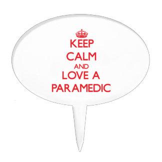 Keep Calm and Love a Paramedic Cake Pick