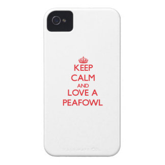 Keep calm and Love a Peafowl Case-Mate iPhone 4 Cases