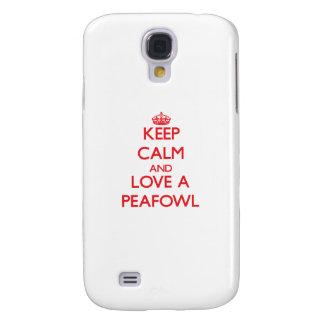 Keep calm and Love a Peafowl Galaxy S4 Case