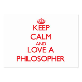 Keep Calm and Love a Philosopher Business Card Template