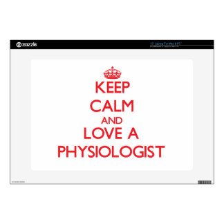 "Keep Calm and Love a Physiologist Decals For 15"" Laptops"