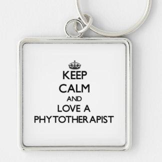 Keep Calm and Love a Phytoarapist Keychains