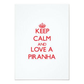 Keep calm and Love a Piranha Card