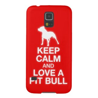 Keep Calm and Love A Pit Bull Galaxy Cover