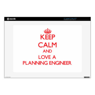 Keep Calm and Love a Planning Engineer Skin For Laptop