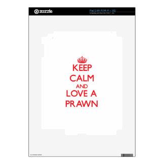 Keep calm and Love a Prawn Decal For iPad 2