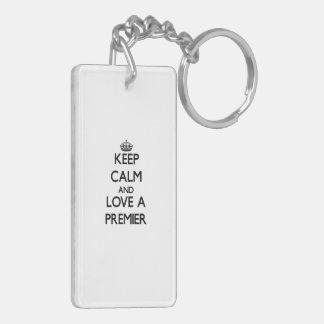 Keep Calm and Love a Premier Acrylic Key Chain