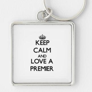 Keep Calm and Love a Premier Key Chain