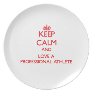 Keep Calm and Love a Professional Athlete Party Plates
