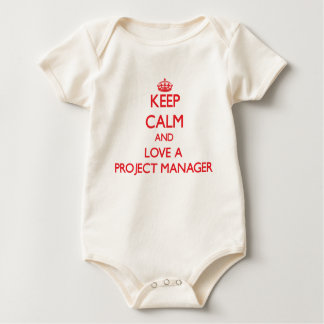 Keep Calm and Love a Project Manager Bodysuit