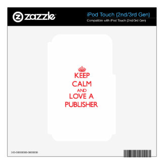 Keep Calm and Love a Publisher iPod Touch 2G Decal