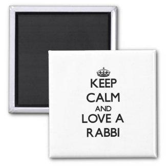 Keep Calm and Love a Rabbi Refrigerator Magnets