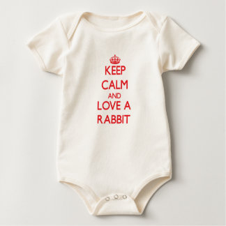 Keep calm and Love a Rabbit Baby Creeper