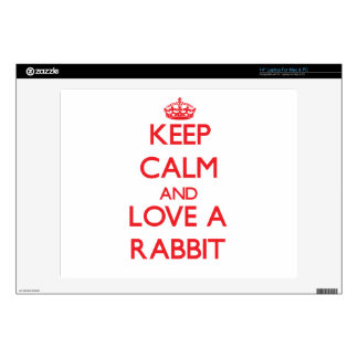 Keep calm and Love a Rabbit Decals For Laptops