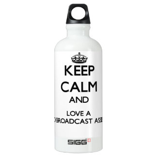 Keep Calm and Love a Radio Broadcast Assistant SIGG Traveler 0.6L Water Bottle