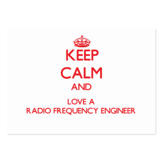 Keep Calm and Love a Radio Frequency Engineer Large Business Cards (Pack Of 100)