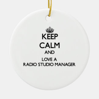 Keep Calm and Love a Radio Studio Manager Christmas Ornament