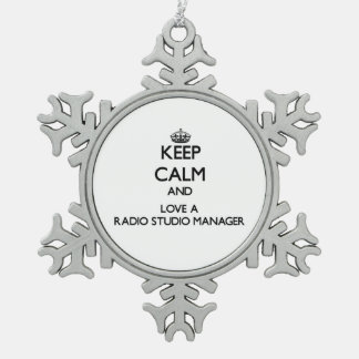 Keep Calm and Love a Radio Studio Manager Ornament