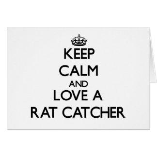 Keep Calm and Love a Rat Catcher Cards