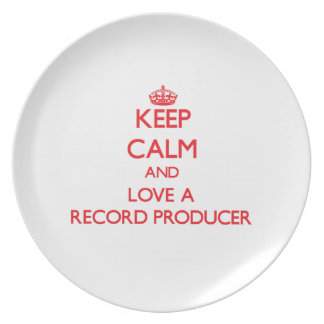 Keep Calm and Love a Record Producer Party Plates