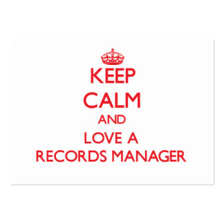 Keep Calm and Love a Records Manager Business Card