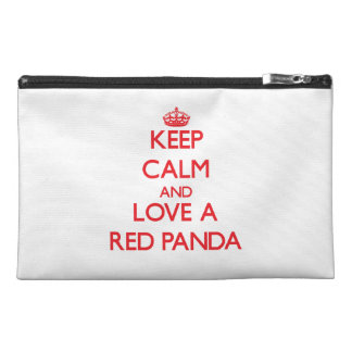 Keep calm and Love a Red Panda Travel Accessories Bag
