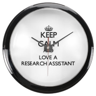 Keep Calm and Love a Research Assistant Aquavista Clock
