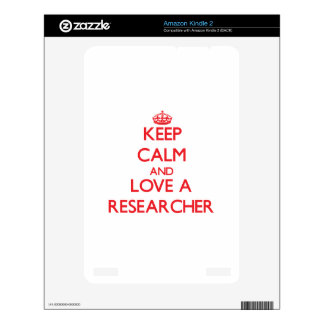 Keep Calm and Love a Researcher Skins For The Kindle