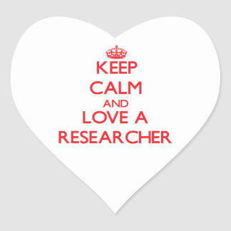 Keep Calm and Love a Researcher Stickers