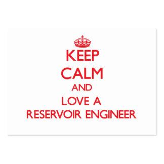 Keep Calm and Love a Reservoir Engineer Business Card Templates