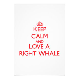 Keep calm and Love a Right Whale Cards