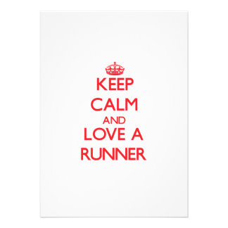 Keep Calm and Love a Runner Personalized Invite