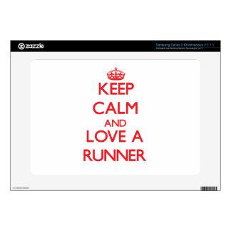 Keep Calm and Love a Runner Samsung Chromebook Decals