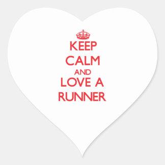 Keep Calm and Love a Runner Sticker