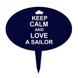 Keep Calm and Love a Sailor Cake Topper
