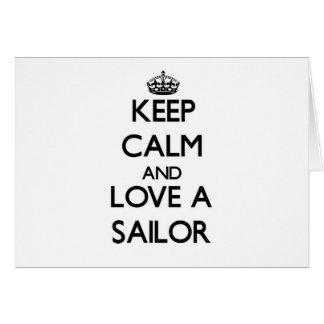 Keep Calm and Love a Sailor Cards