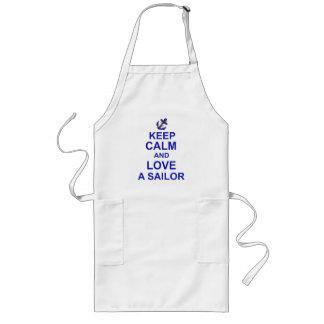 Keep Calm and Love a Sailor Long Apron
