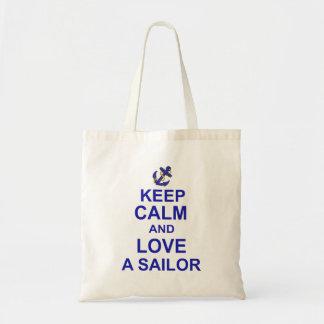 Keep Calm and Love a Sailor Tote Bag