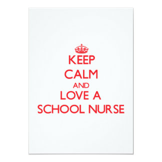 Keep Calm and Love a School Nurse Personalized Announcement