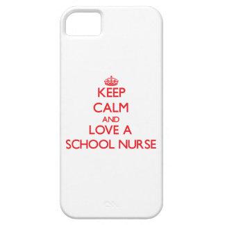 Keep Calm and Love a School Nurse iPhone 5 Cases
