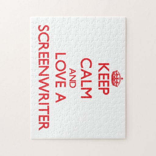 Keep Calm and Love a Screenwriter Jigsaw Puzzles