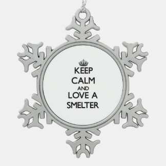 Keep Calm and Love a Smelter Ornaments