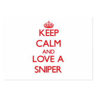 Keep Calm and Love a Sniper Business Card