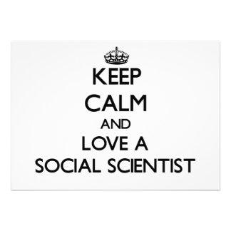 Keep Calm and Love a Social Scientist Announcement