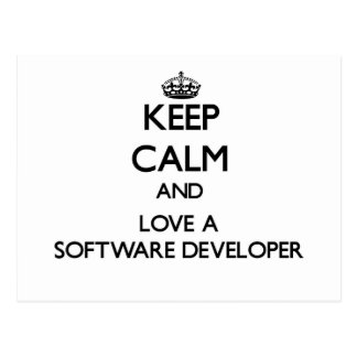 Keep Calm and Love a Software Developer Post Cards