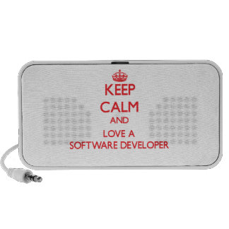 Keep Calm and Love a Software Developer Travelling Speaker